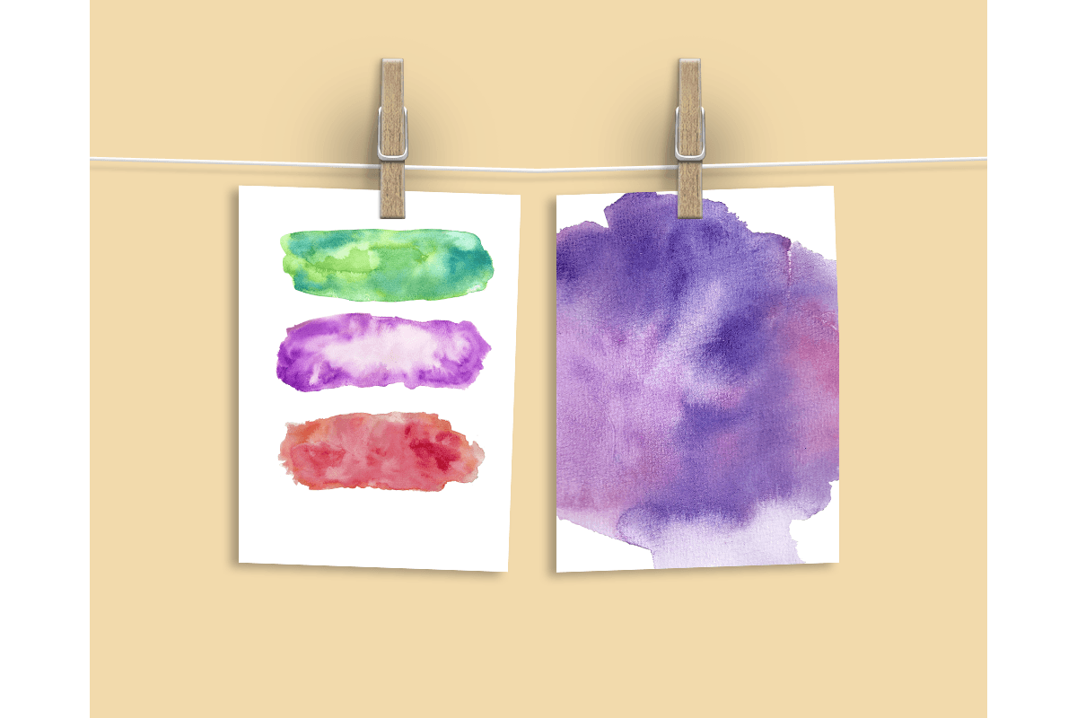 Watercolor Textures - card edition example image 8