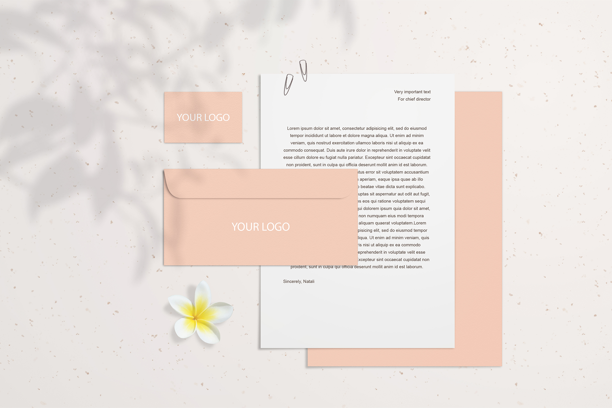 Summer Stationery Branding Mockup with Shadows example image 4