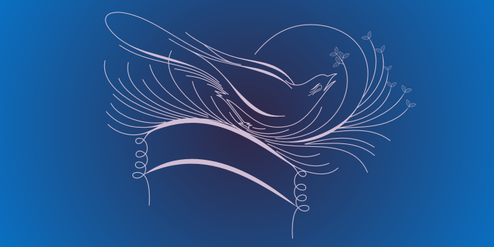Calligraphic Birds Family Pack example image 7