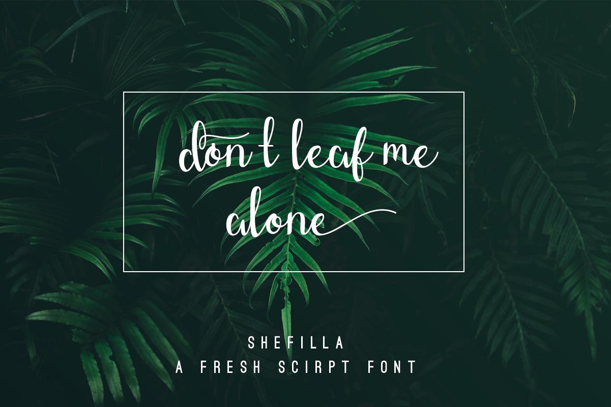 Shefilla Script Font example image 2
