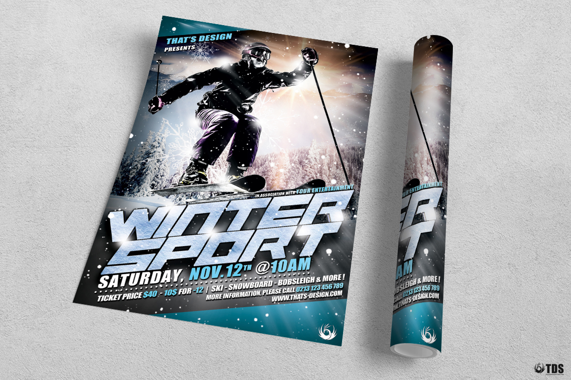 Winter Sports Flyer Template V1 example image 3