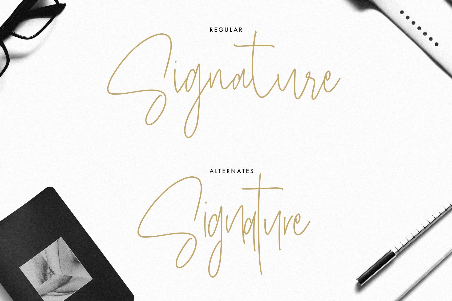 Masstro Signature Typeface example image 5