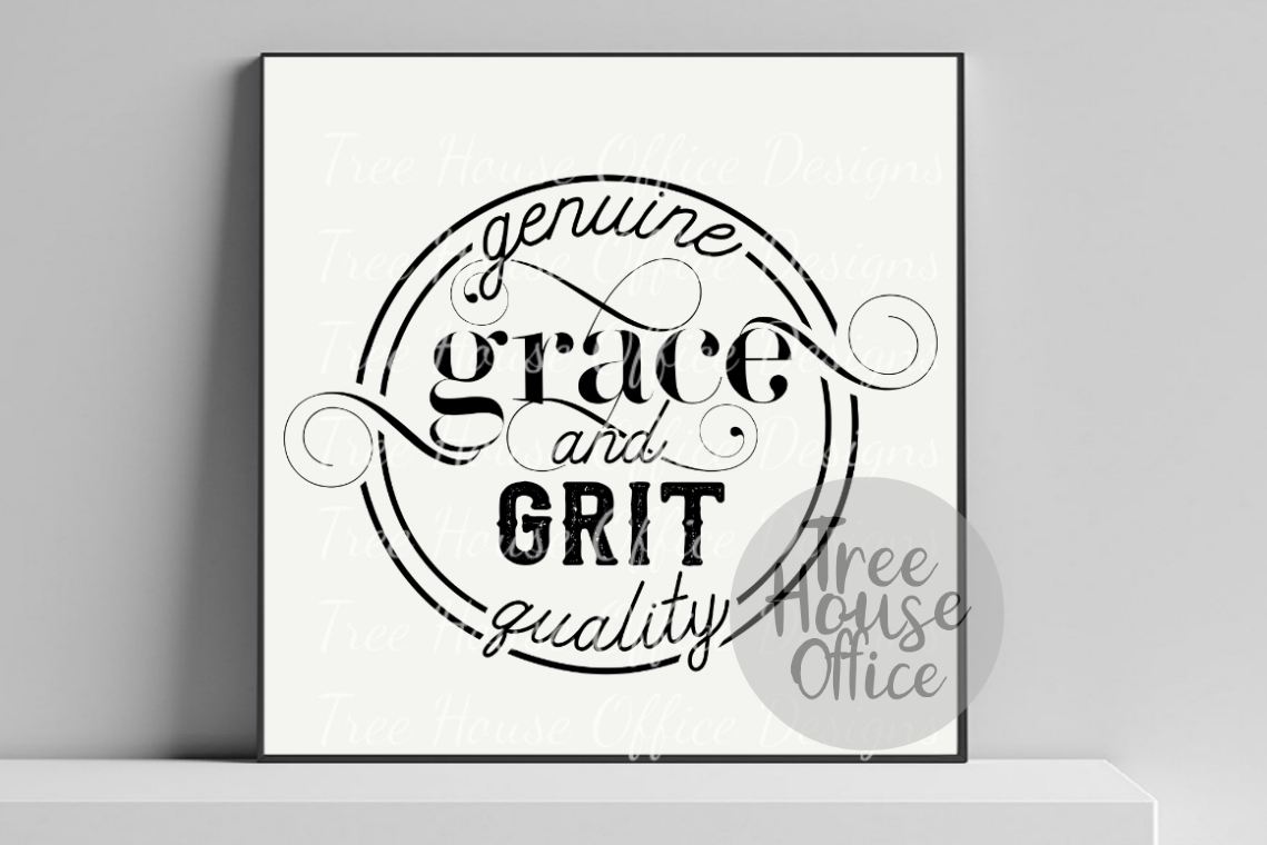 Grace and Grit Southern Faith Gratitude Saying SVG PNG JPEG example image 2