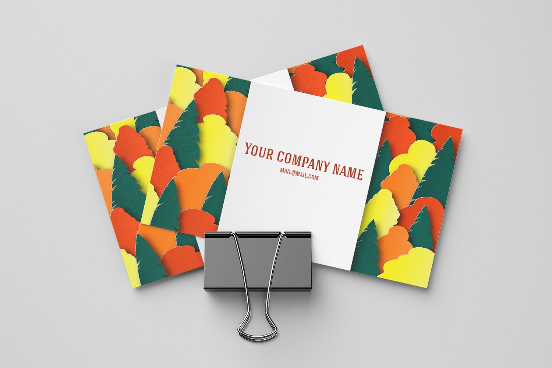 Autumn landscape paper cut example image 3