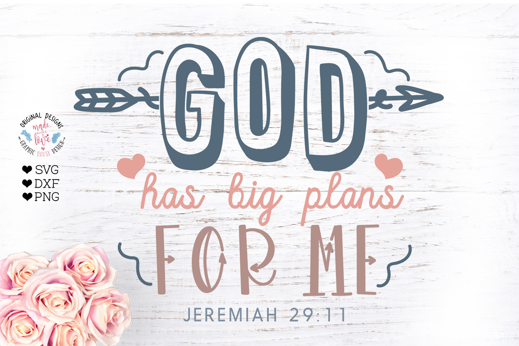 God Has Great Plans for Me - Nursery Decor Cut File example image 1