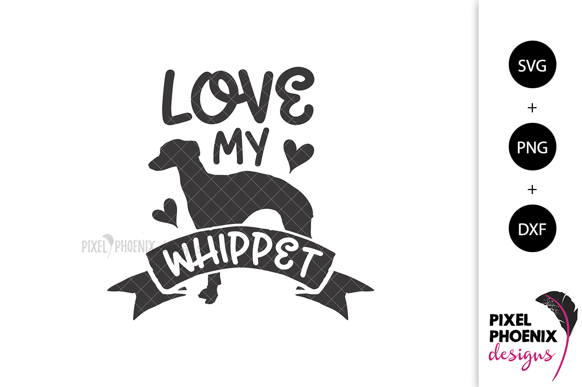 Love My Whippet SVG example image 2