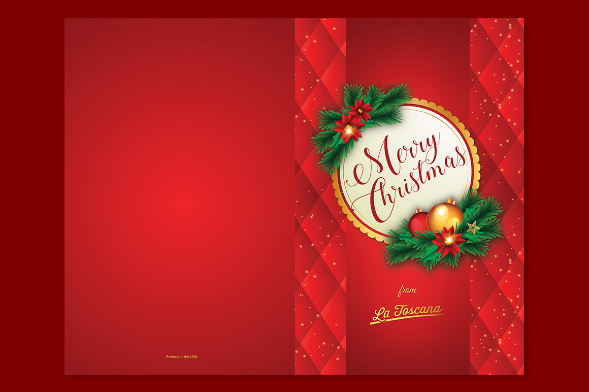 Red Christmas Card Template example image 4