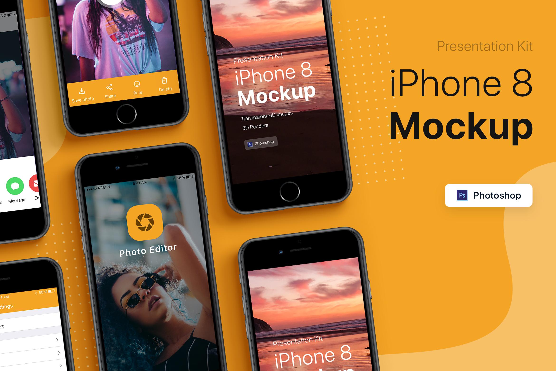 Presentation Kit - iPhone showcase Mockup_v4 example image 3
