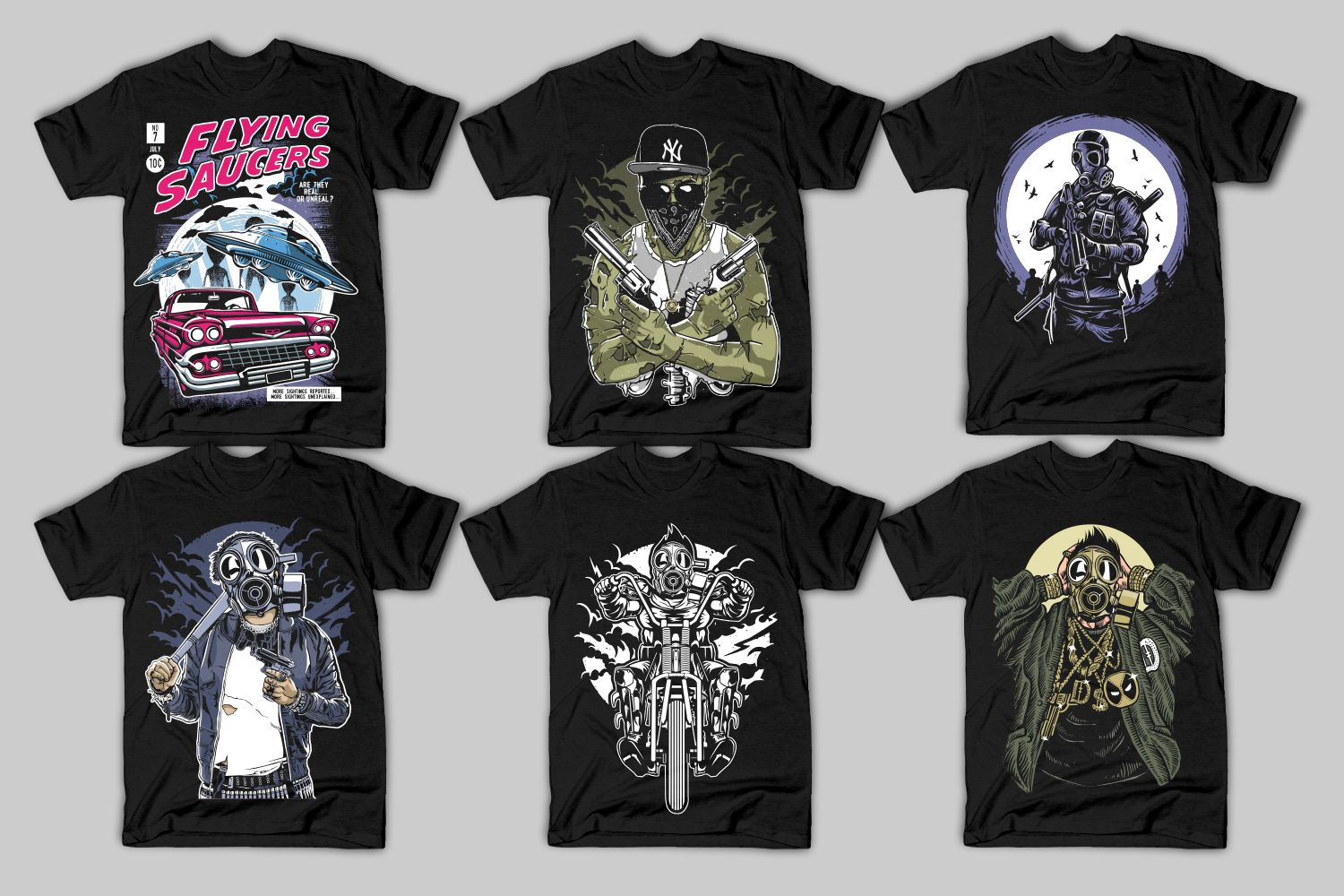 82 Tshirt Designs Bundle example image 3