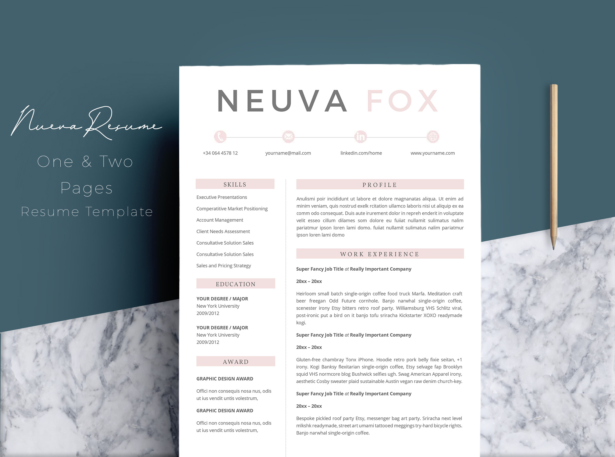 Creative  Resume Template 4 Pages example image 1