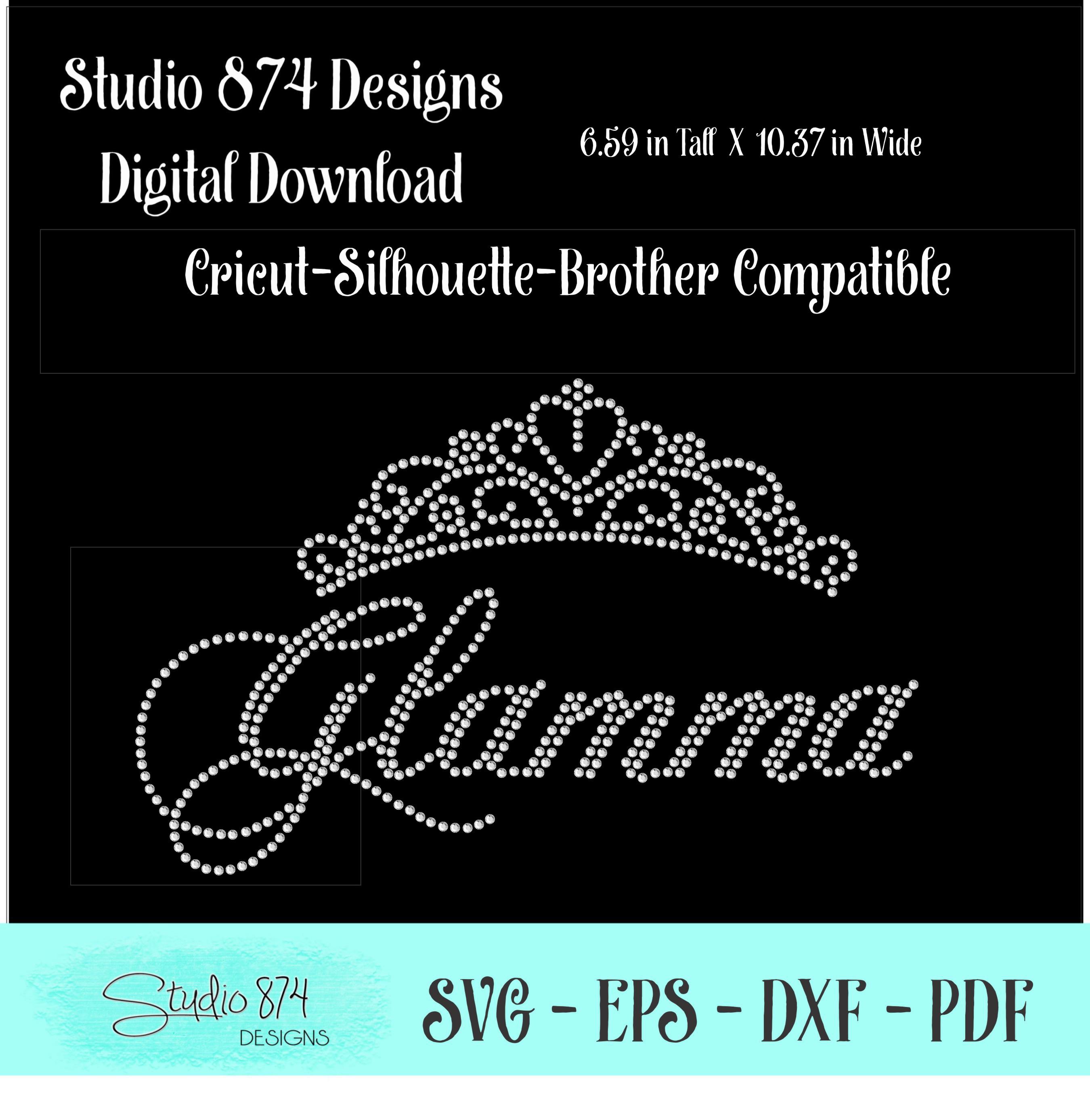 Glamma Rhinestone SVG Template R1 example image 2