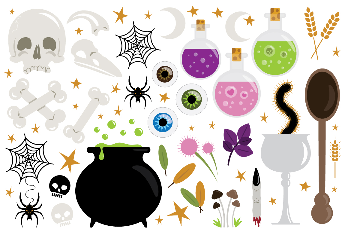 Witches Kitchen Clip Art Set example image 2