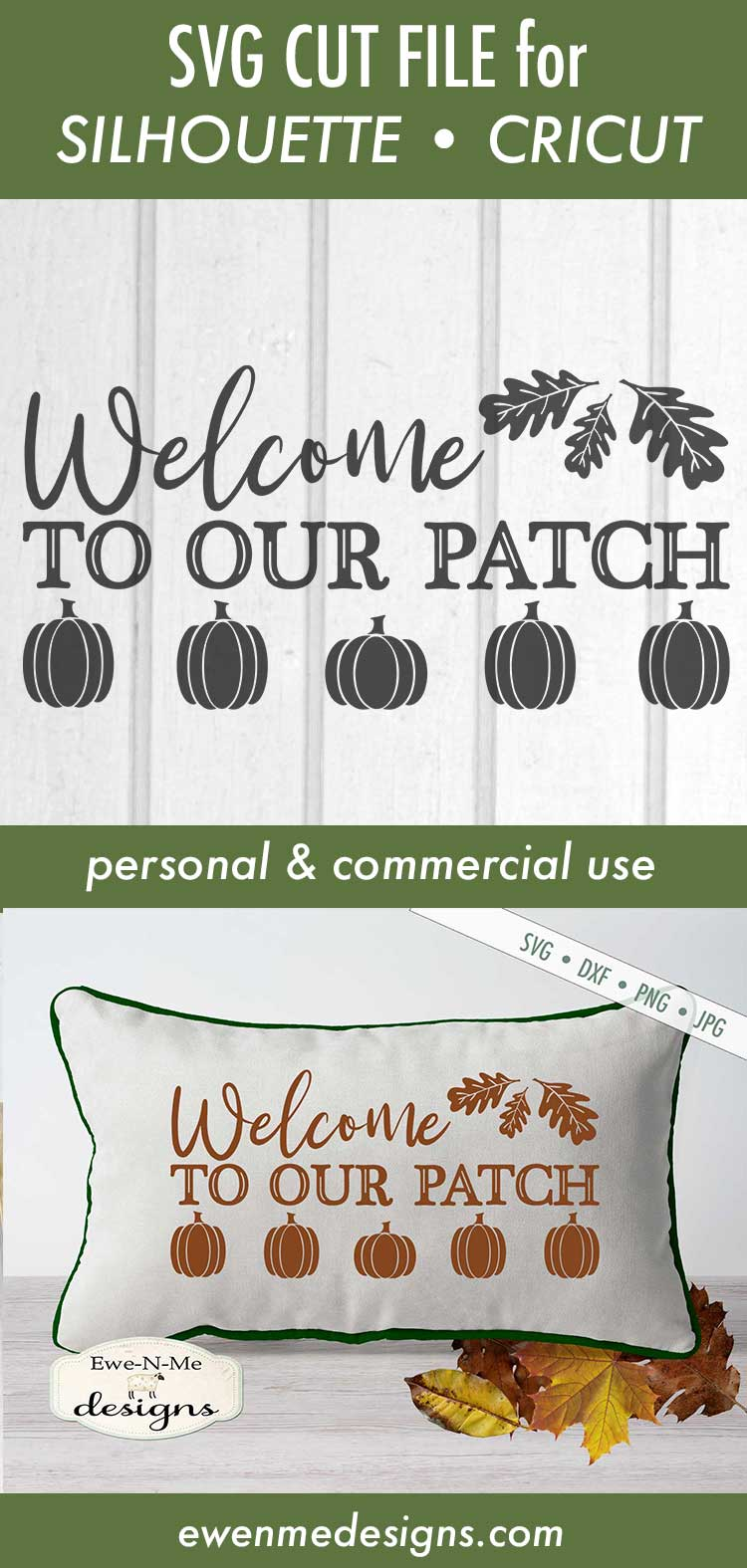 Welcome To Our Patch - Pumpkin Patch - Fall Autumn SVG DXF example image 3