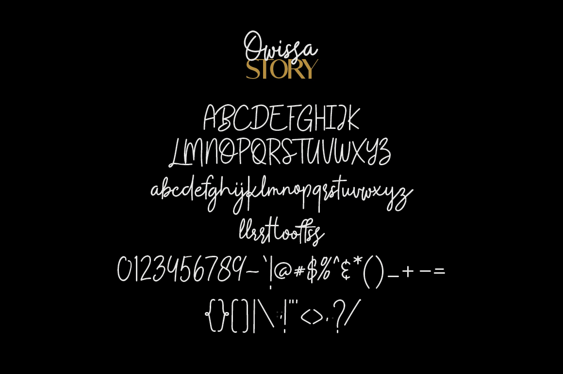 Owissa Story - Font Duo example image 7