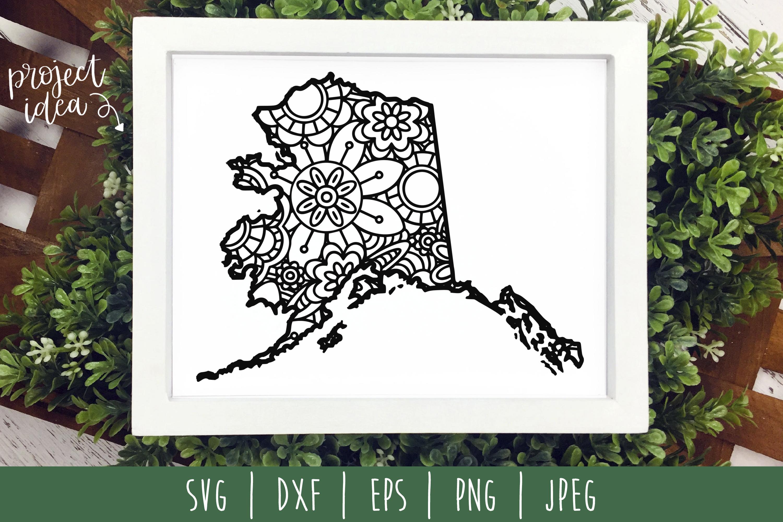 State Mandala Zentangle Bundle Set of 50 - USA SVG example image 9