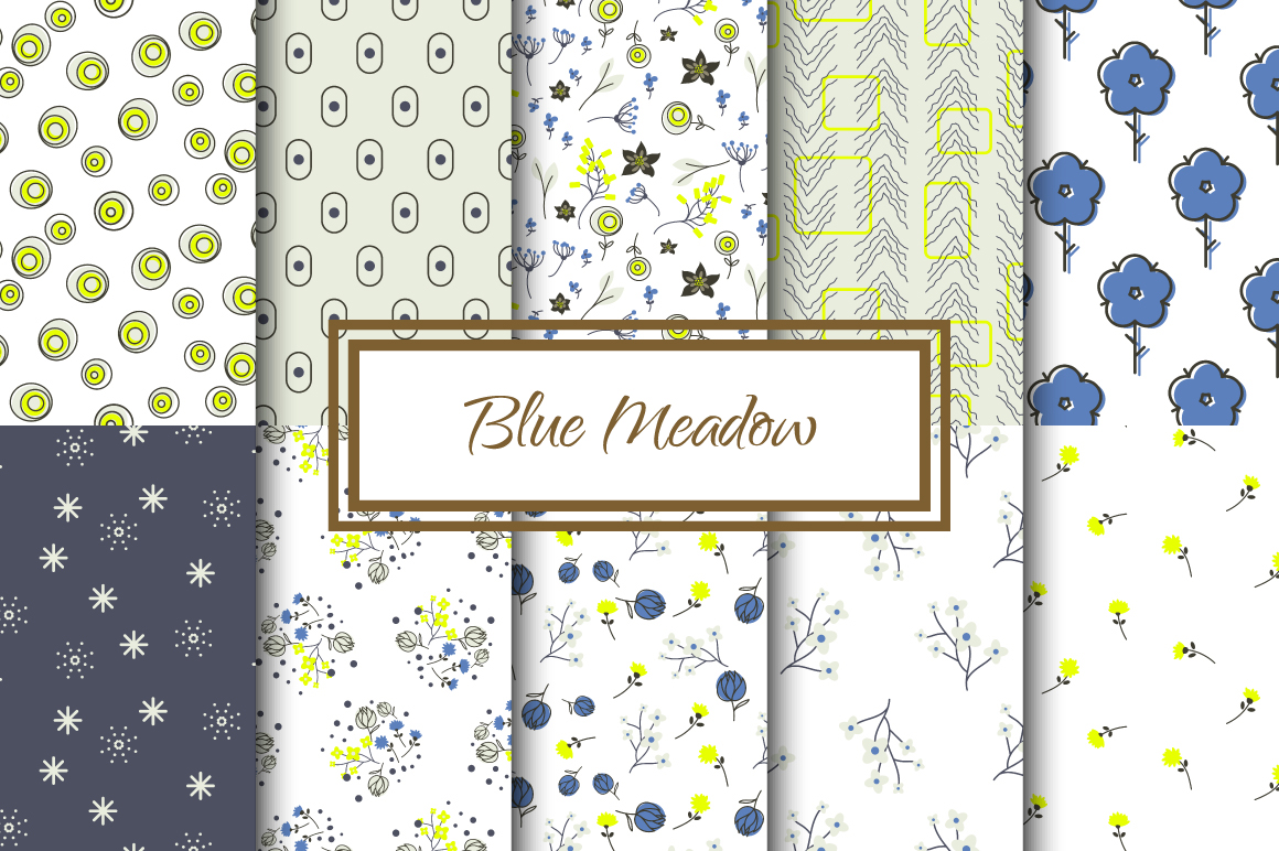 Blue Meadow Floral Patterns example image 1