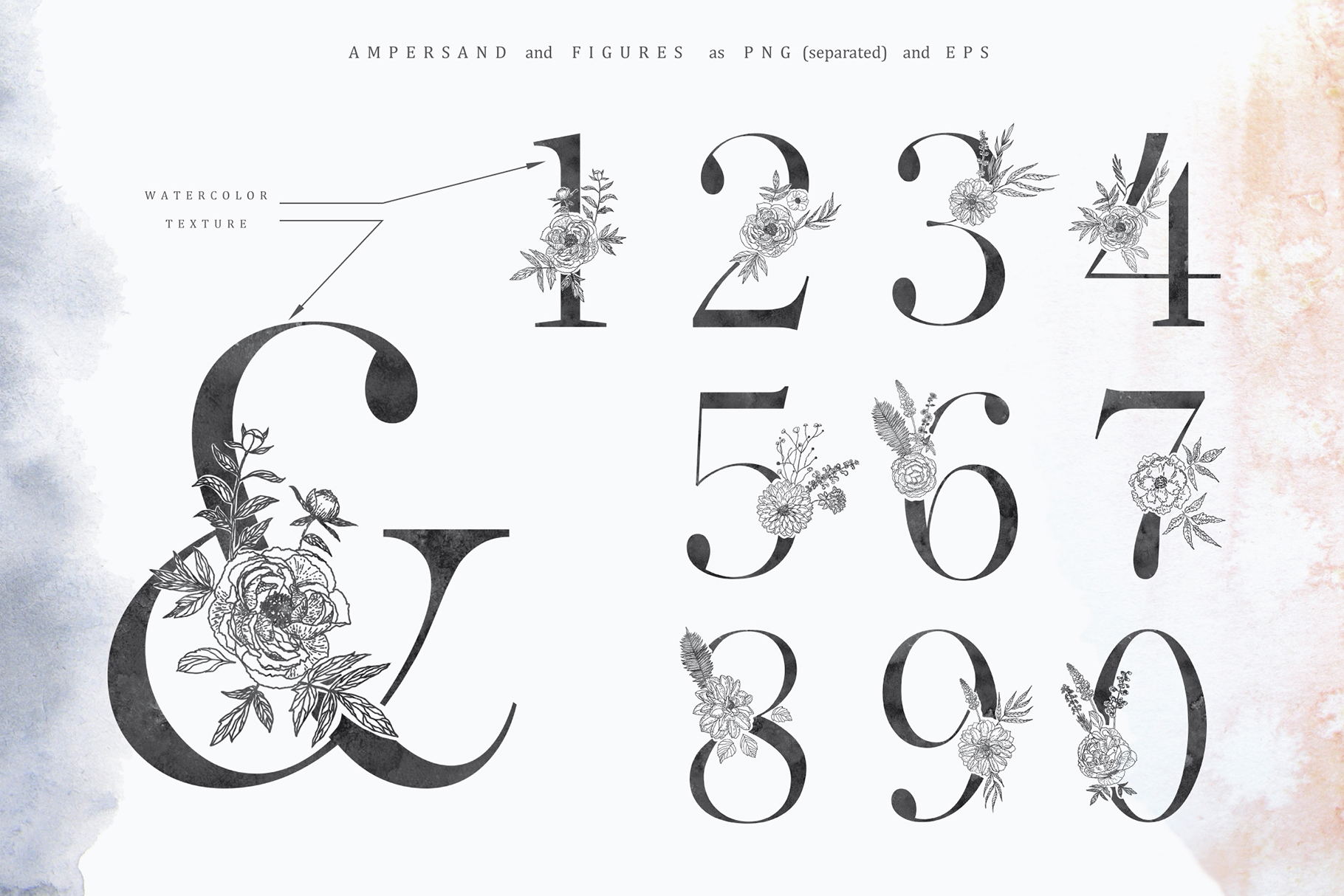 Floral Alphabets Collection. example image 16