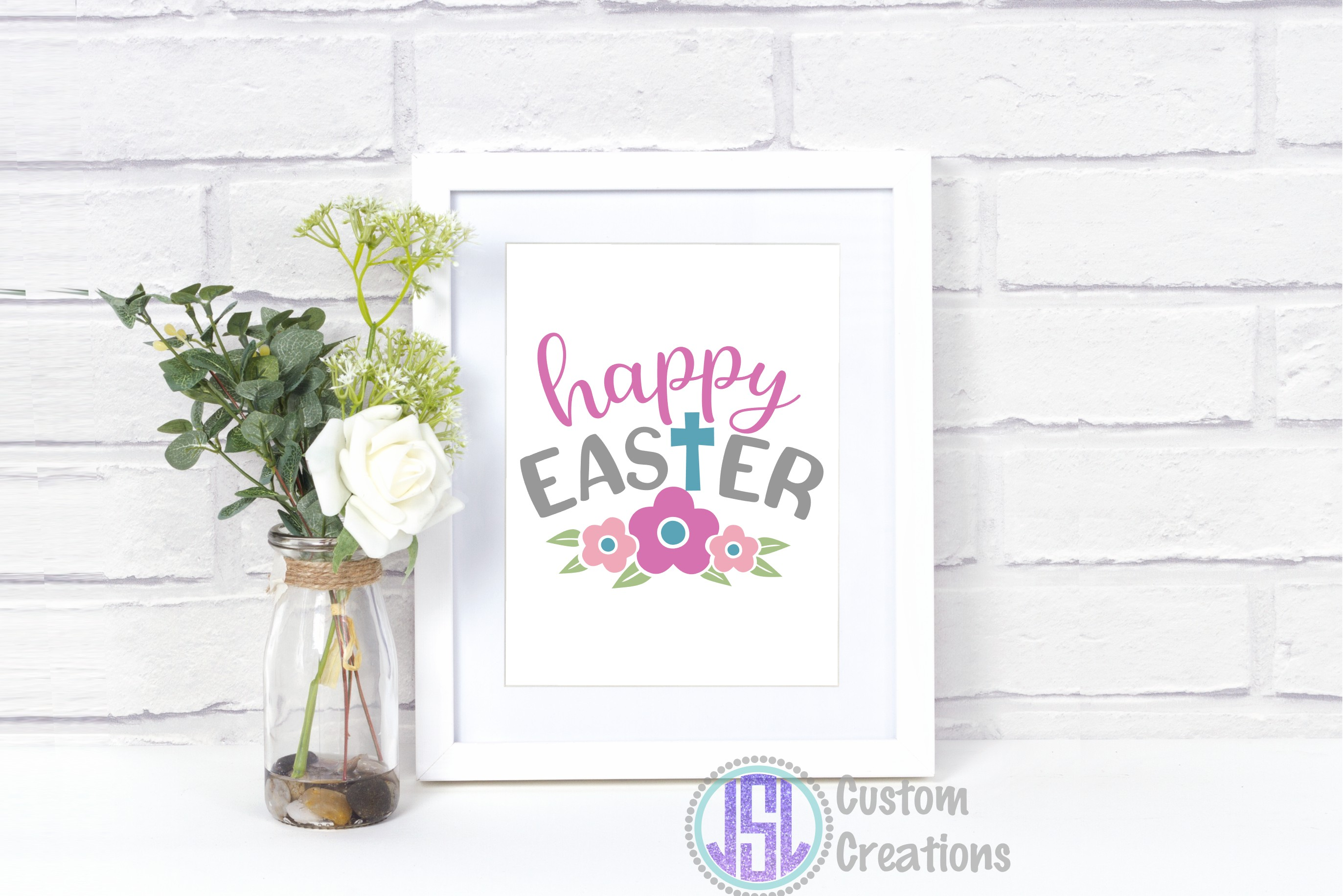 Happy Easter | SVG DXF EPS PNG Digital Cut File Download example image 2