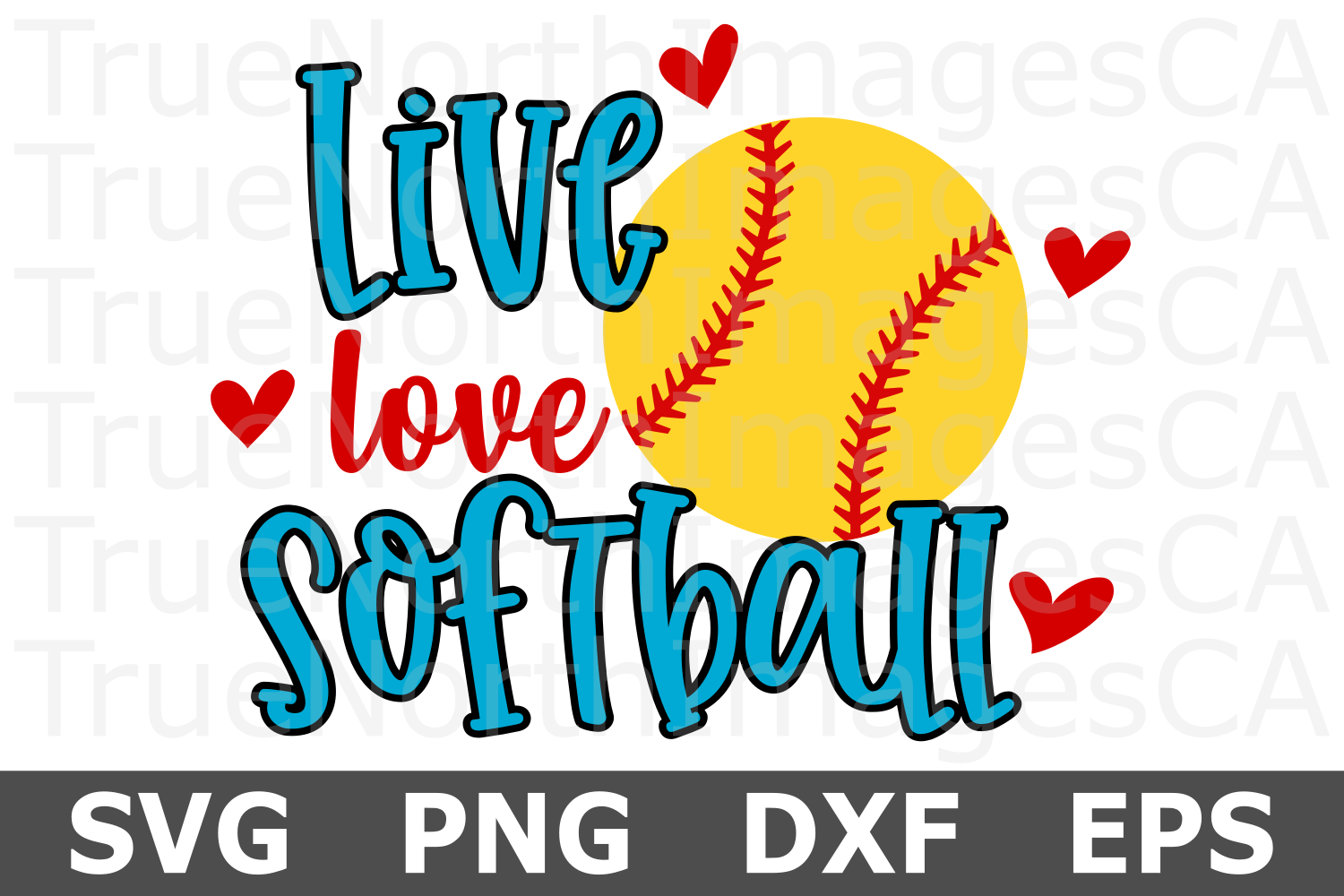Live Love Softball- A Sports SVG Cut File example image 1