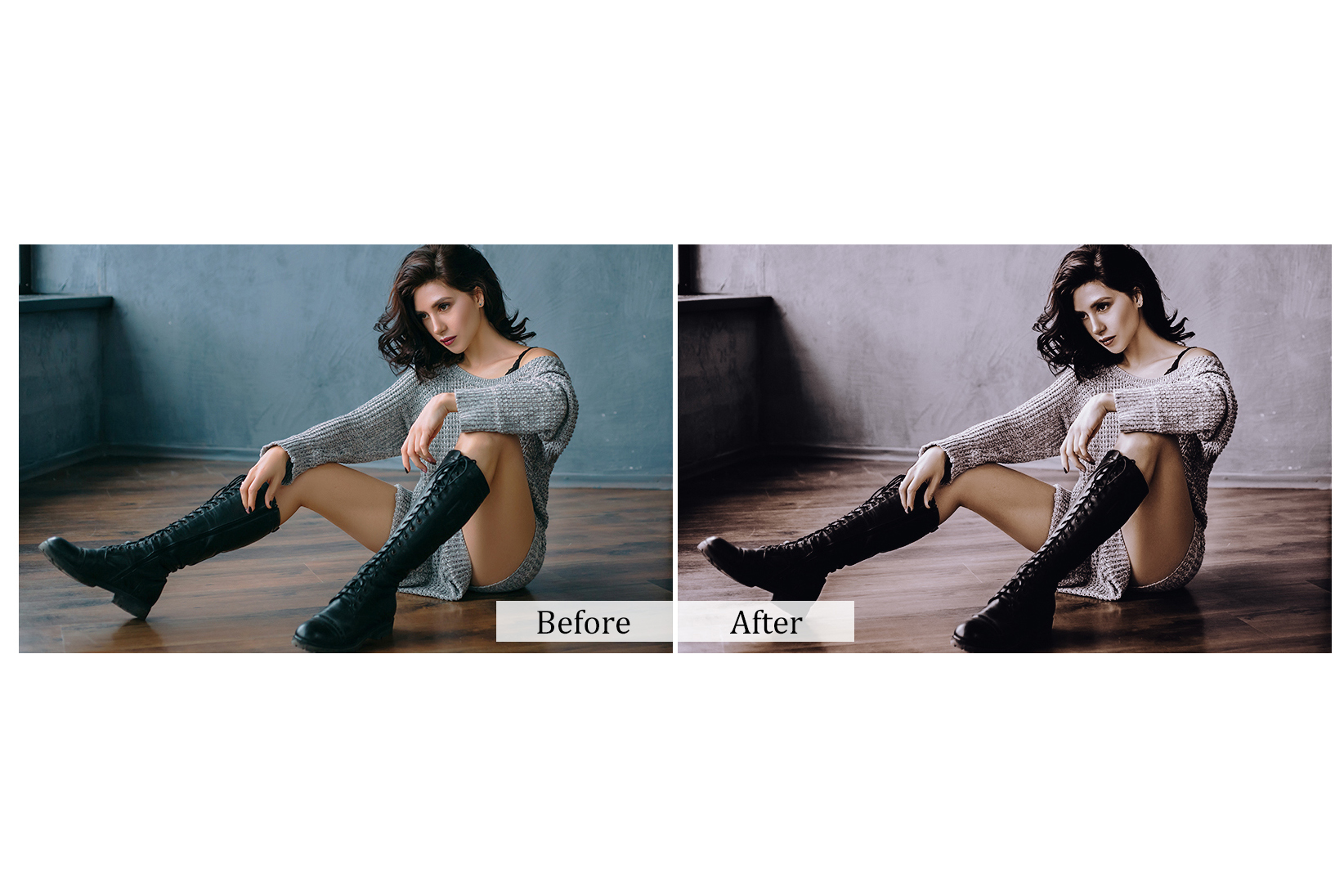100 Indoor Fashion Photoshop Actions example image 2