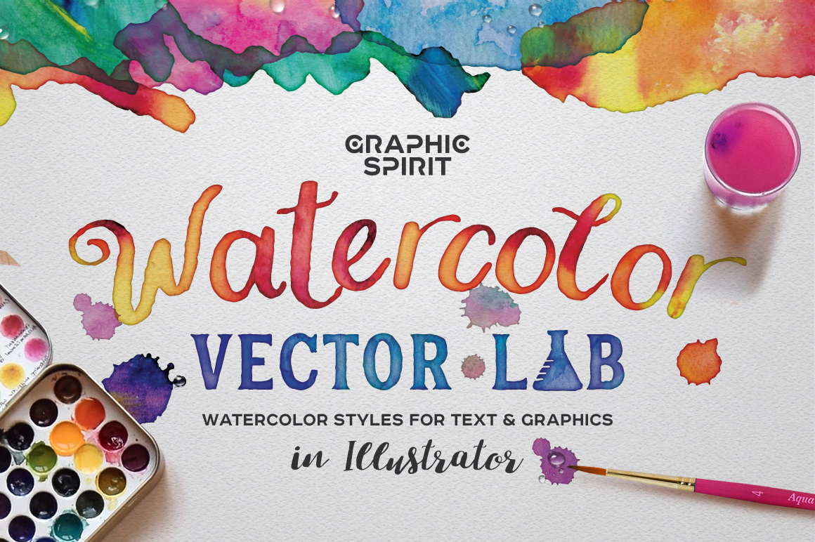 Watercolor Vector Styles Illustrator example image 1