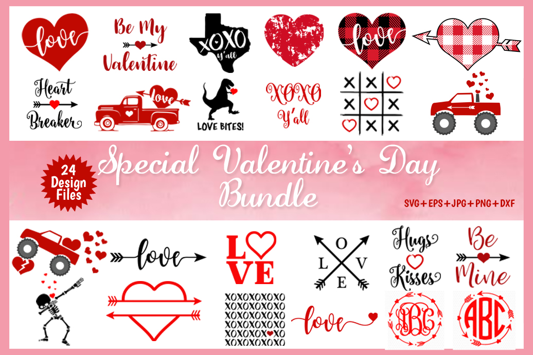 Valentine's day SVG Bundle Love SVG Files, Heart svg Bundle example image 1
