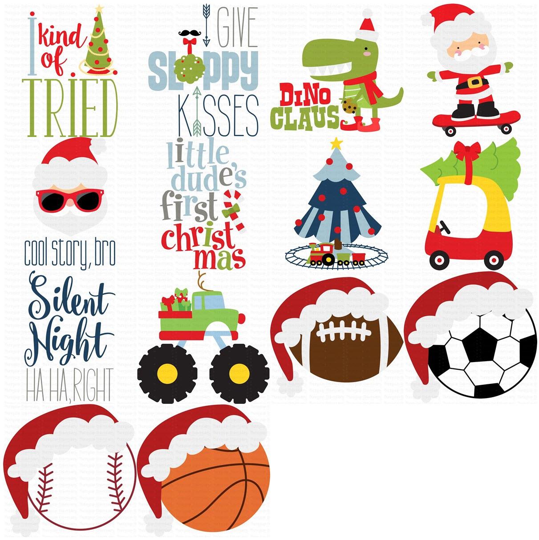Boys Christmas - 14 SVG, Clipart, Printables Files example image 2