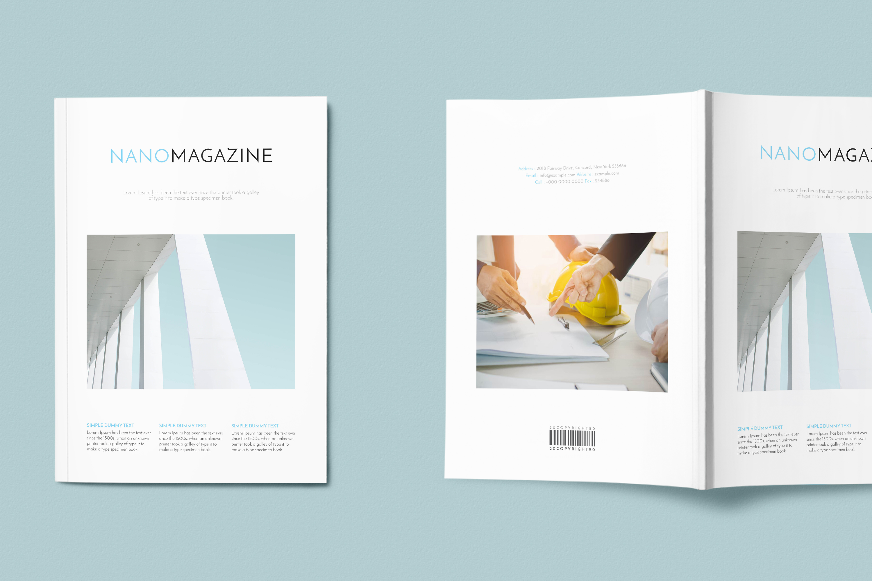 InDesign NANO Magazine Template example image 2