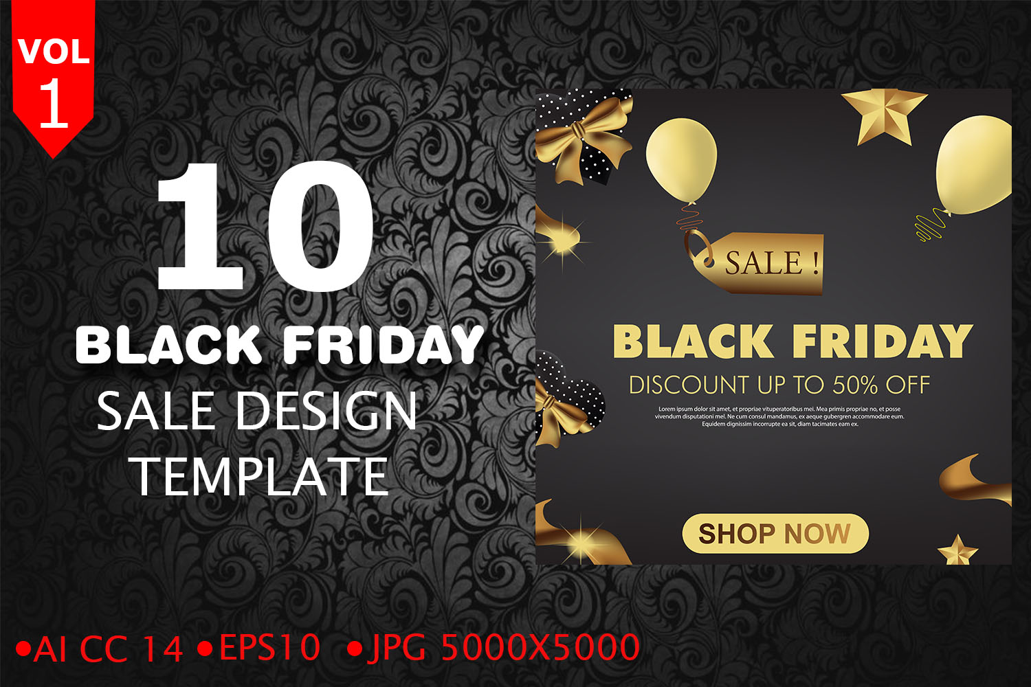 Black Friday Sale Template example image 1