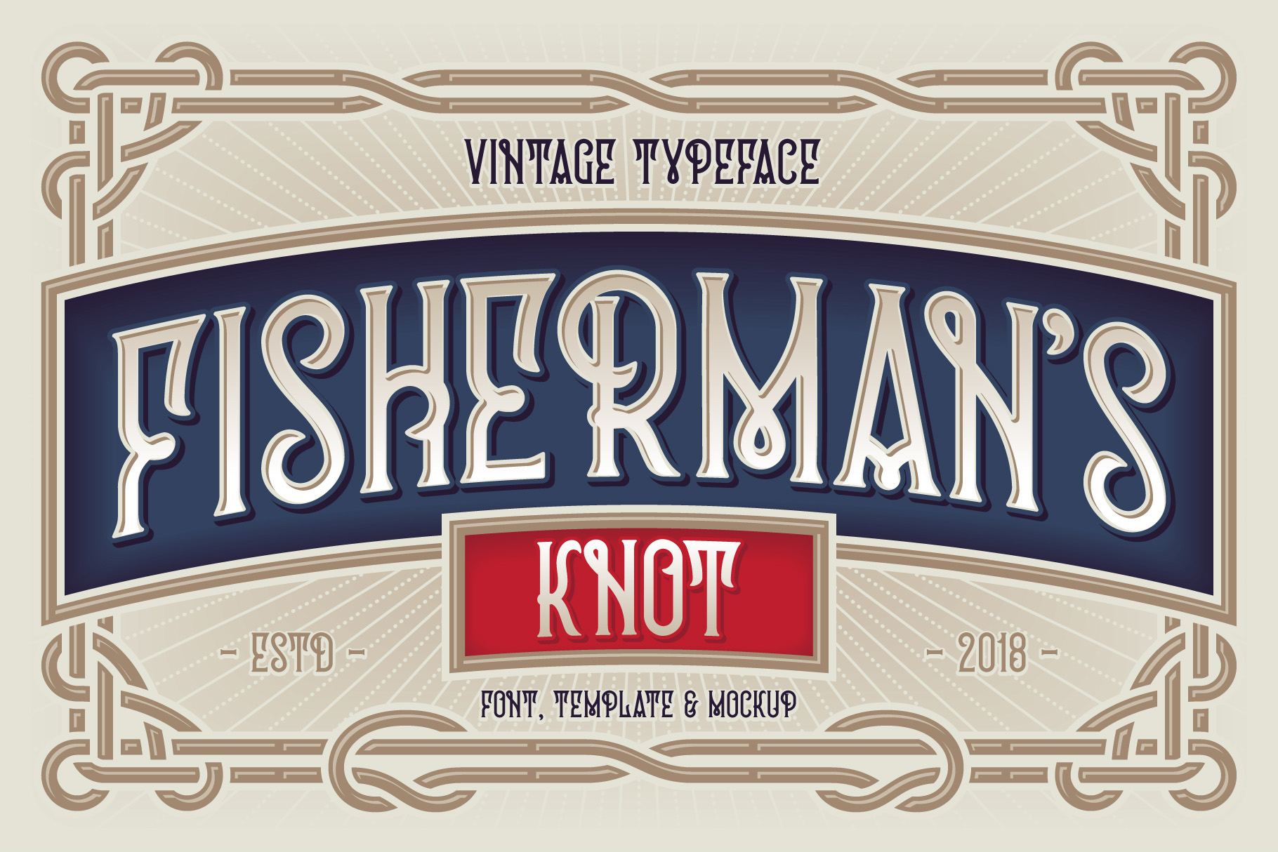 Fisherman's Knot. Font & Graphics example image 1