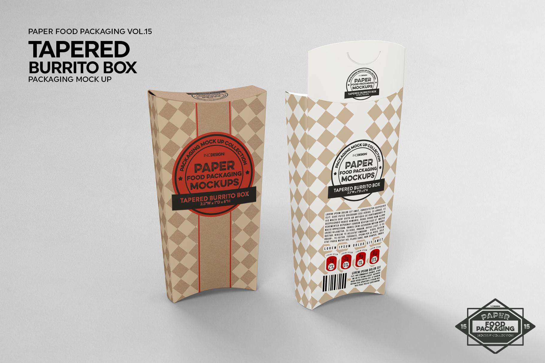 VOL.15 Food Box Packaging MockUps example image 13