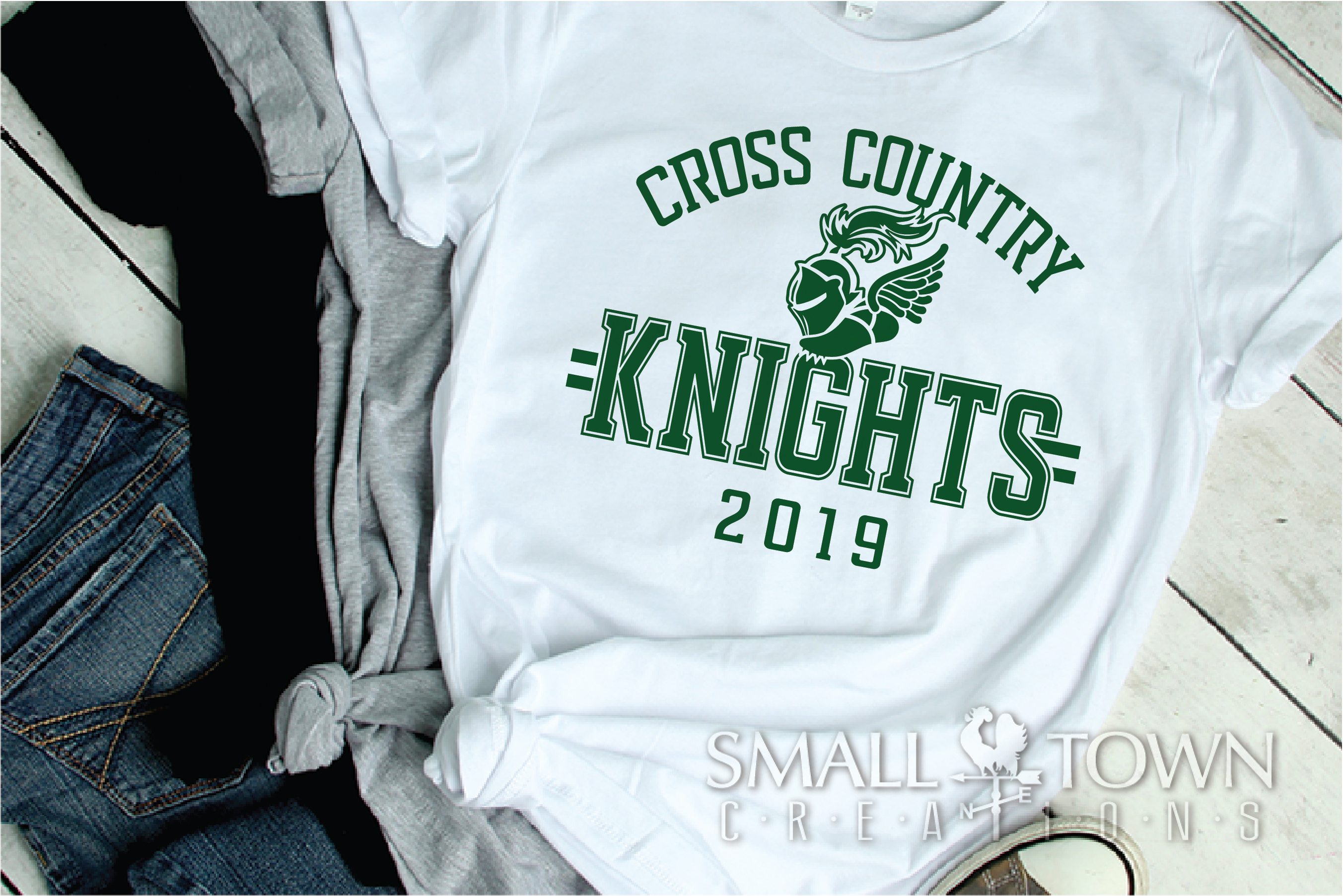 Knight Cross Country, Winged Shoe, PRINT, CUT & DESIGN example image 2