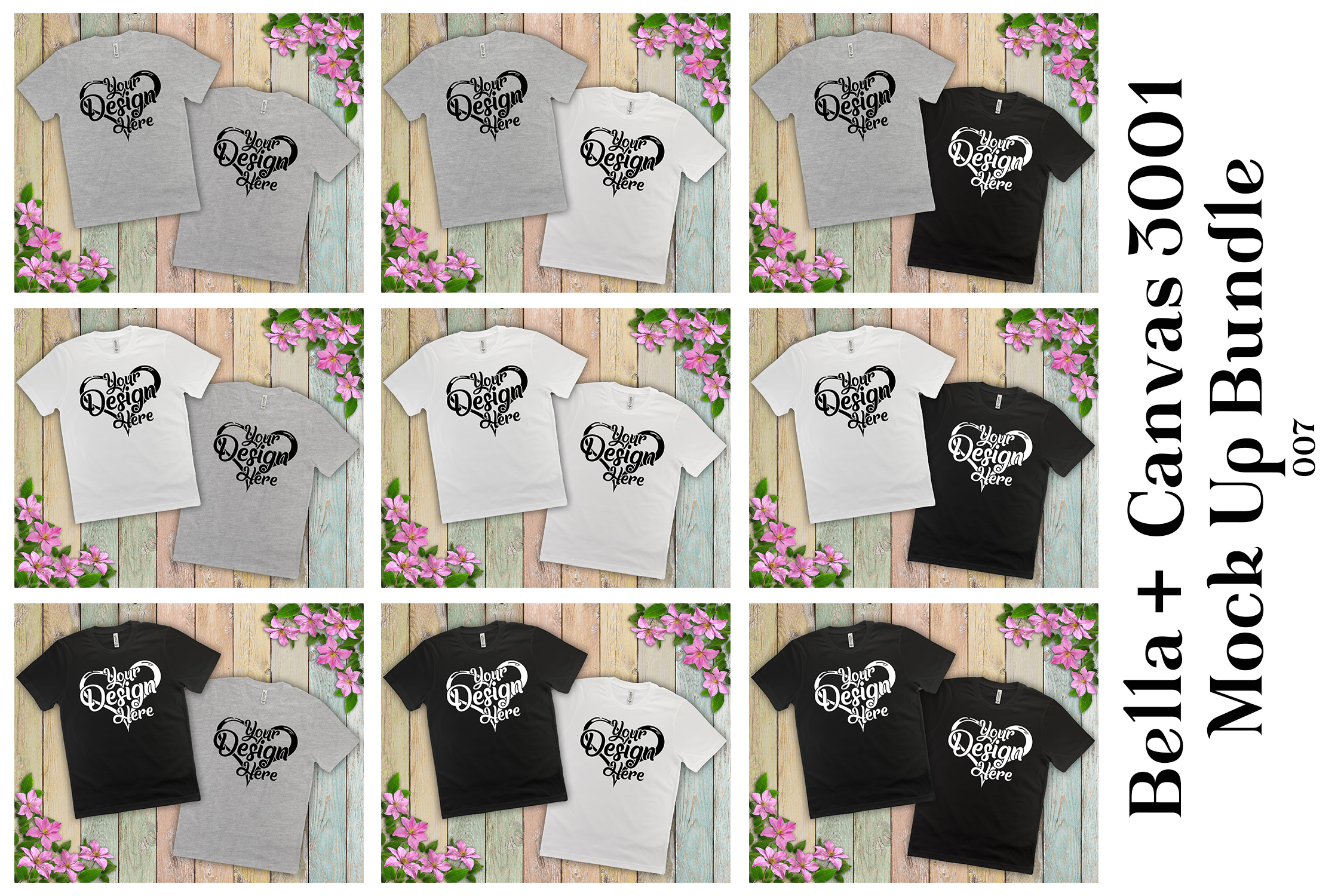 161 Bella Canvas 300 Mockups Mega Bundle Flat Lay T-Shirts example image 10