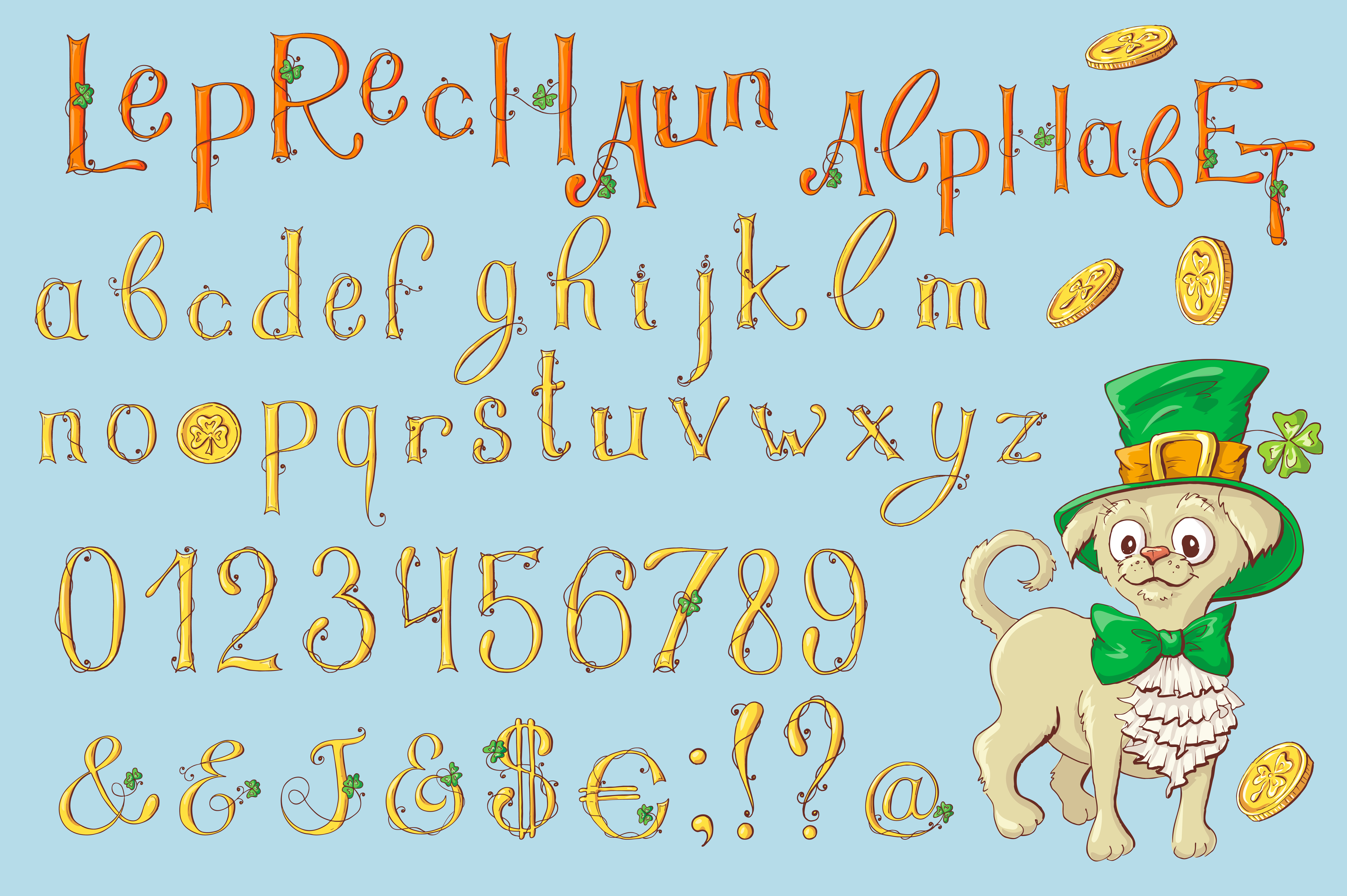 Leprechaun Alphabet – St. Patrick's Day example image 2