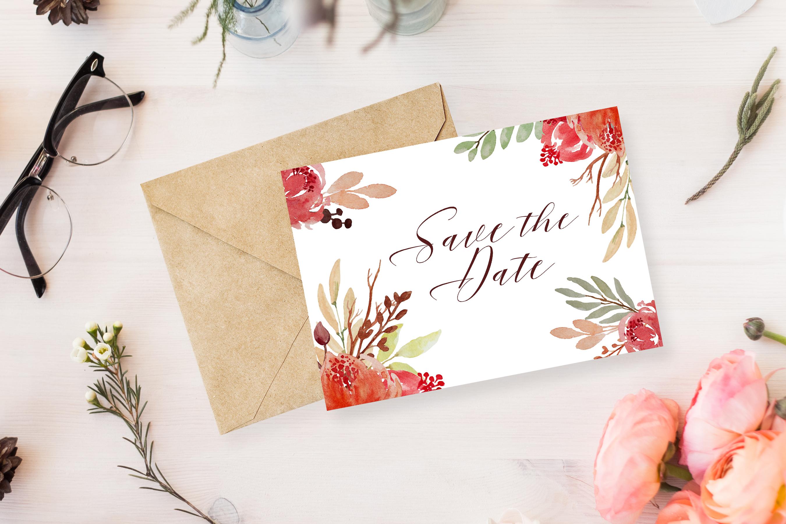 Juliet Floral Watercolor Clip Art Set example image 5