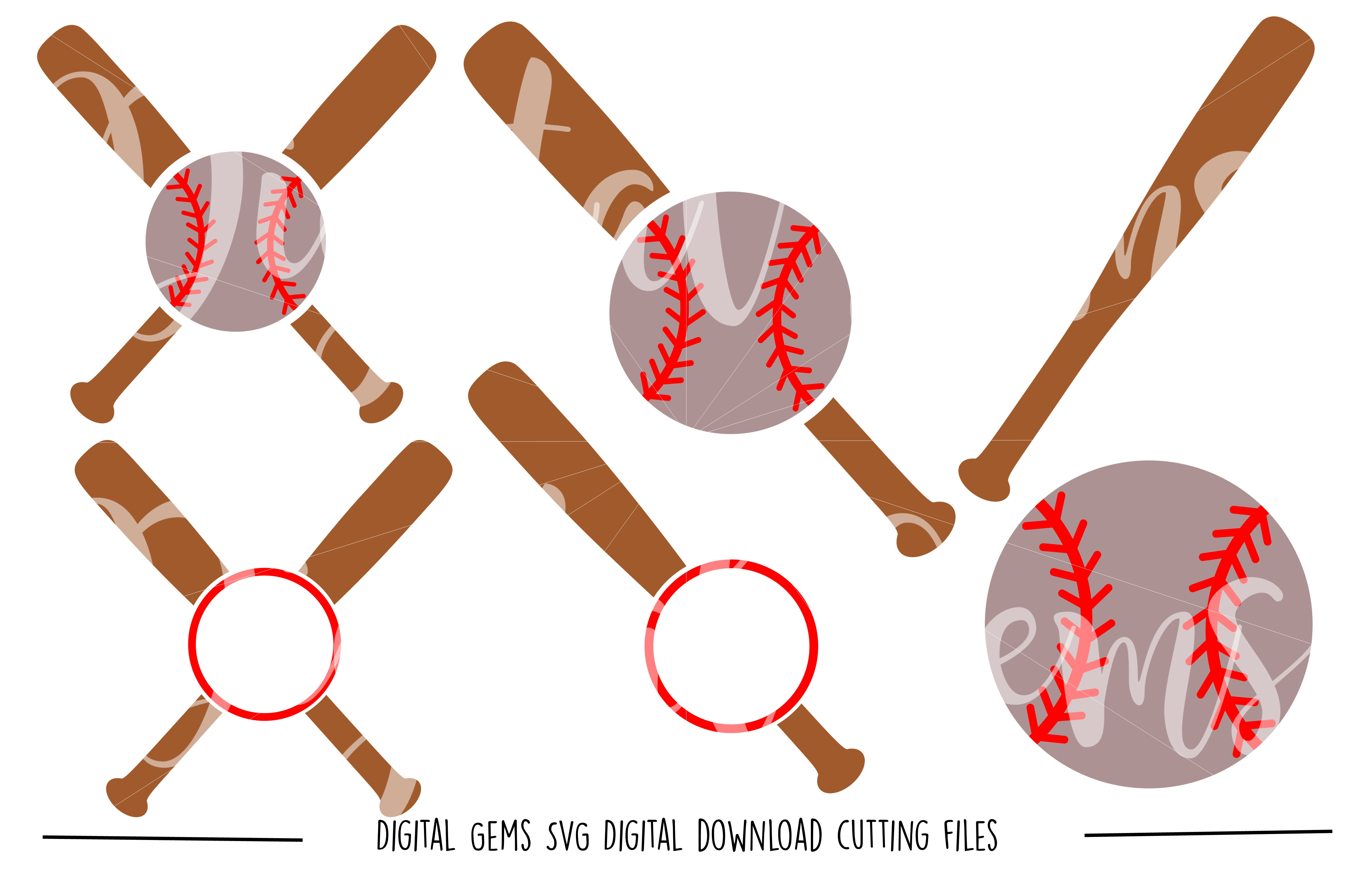 Baseball SVG / DXF / EPS / PNG files example image 1