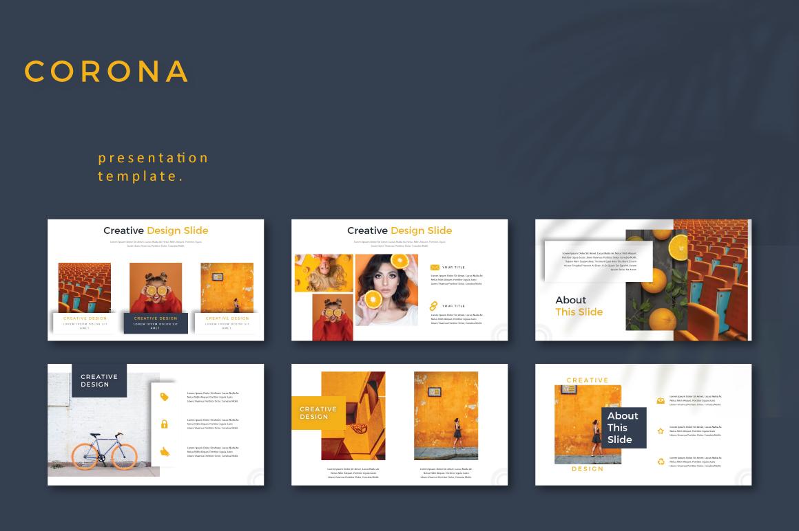 CORONA - Google Slides example image 3