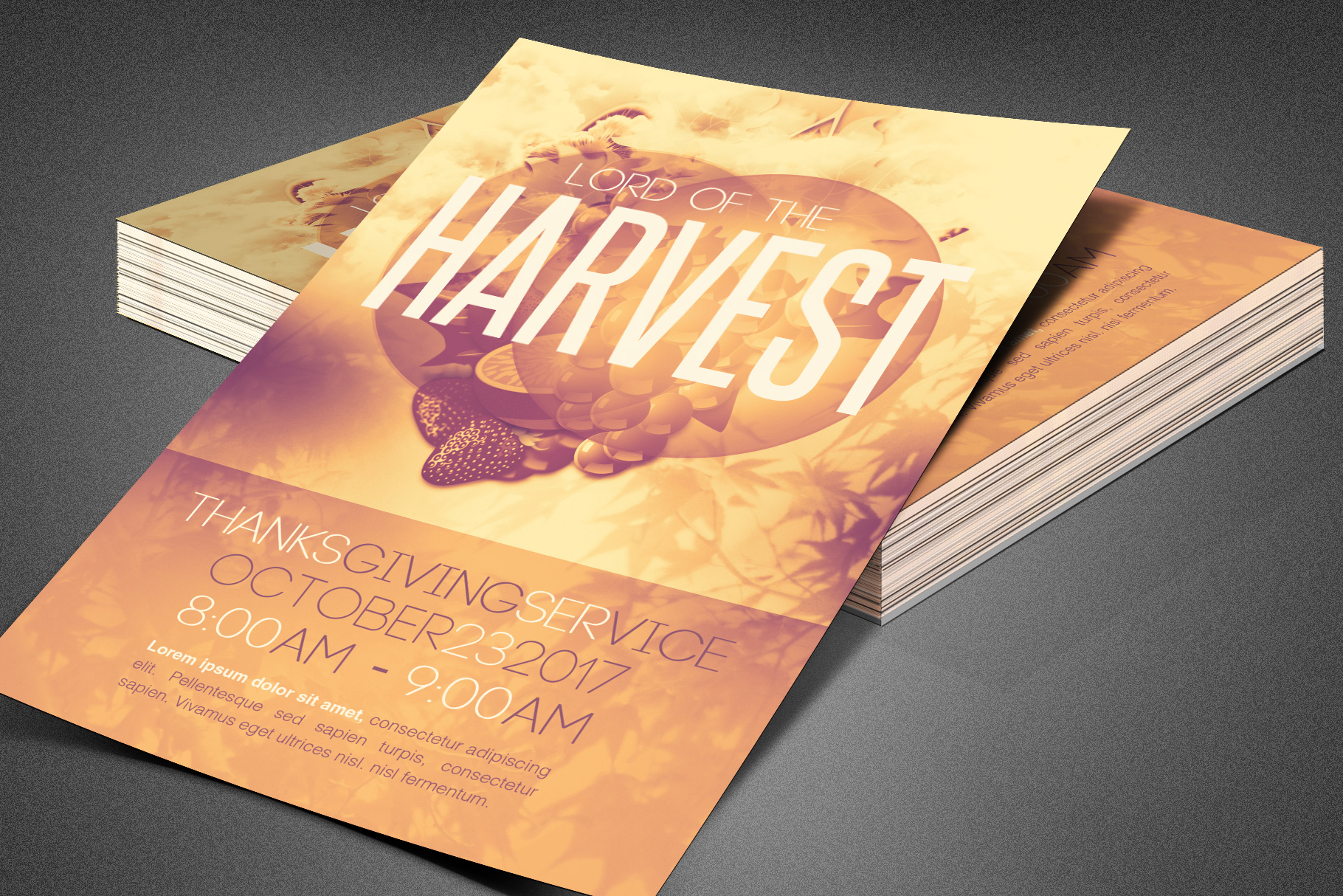 Lord of the Harvest Church Flyer example image 5