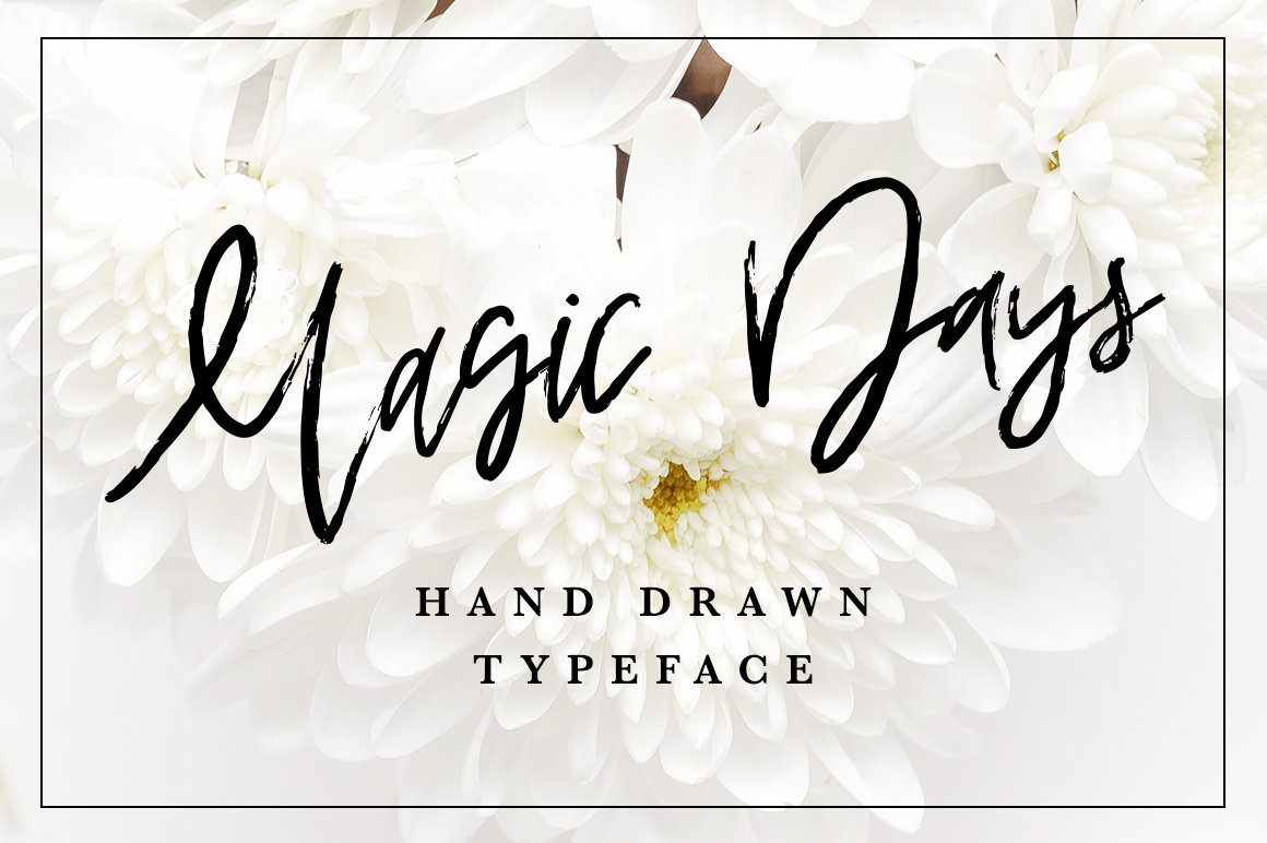 Magic Days Hand Drawn Font example image 1