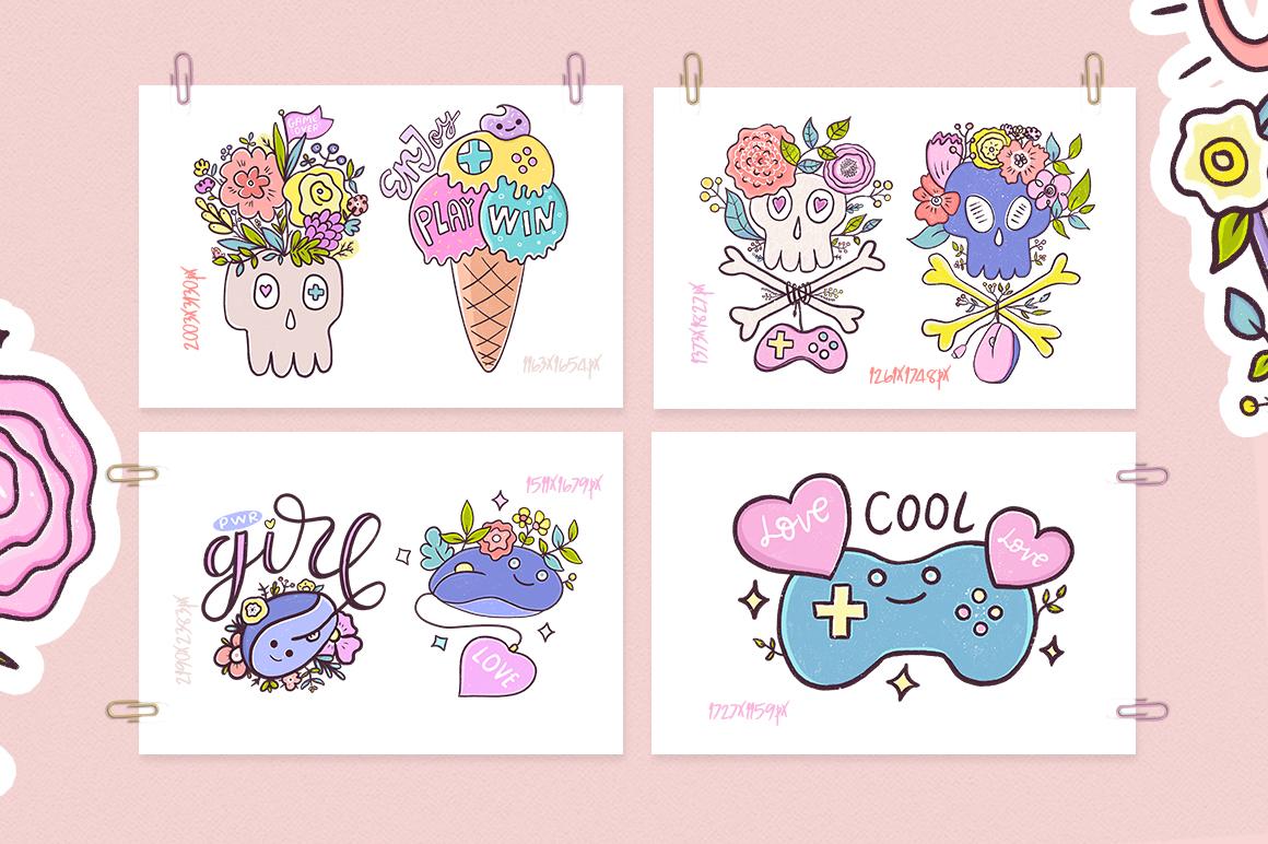 Cute Game. Illustration Set. example image 2
