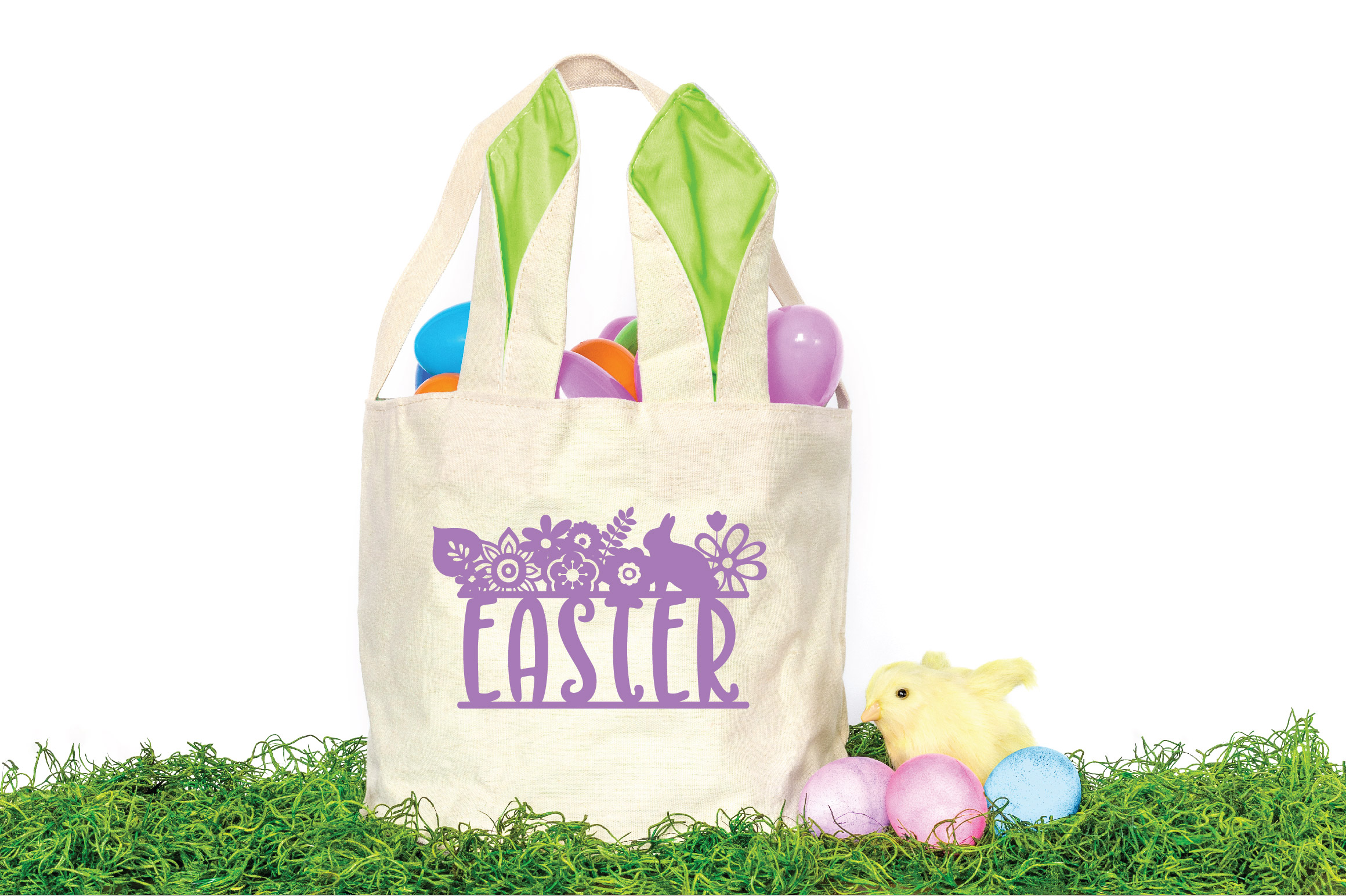 Easter SVG Cut File - Easter Floral SVG DXF EPS PNG AI example image 4