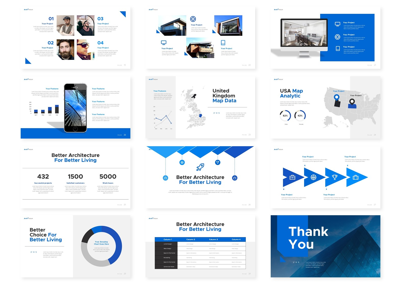 Architeque | Powerpoint, Keynote, GoogleSlides Template example image 6