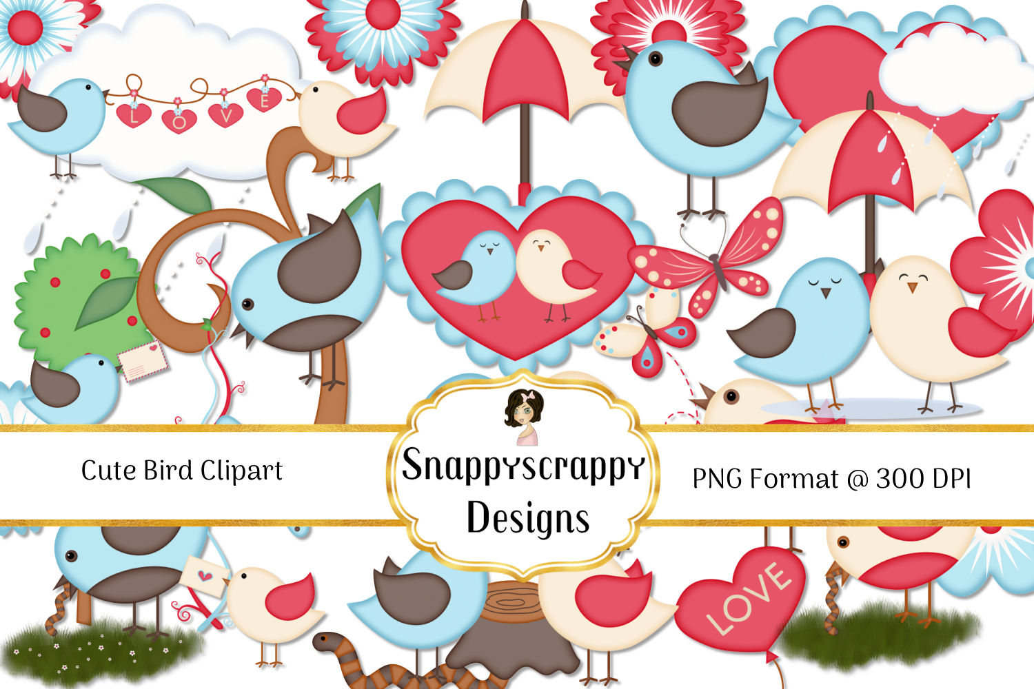 Cute Bird Clipart example image 1