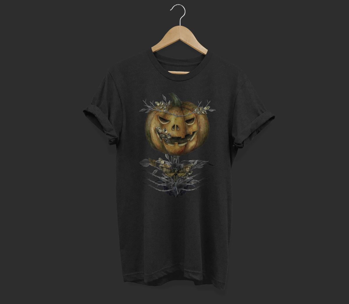 Jack o Lanter Halloween clipart, evil vintage gothic pumpkin example image 3