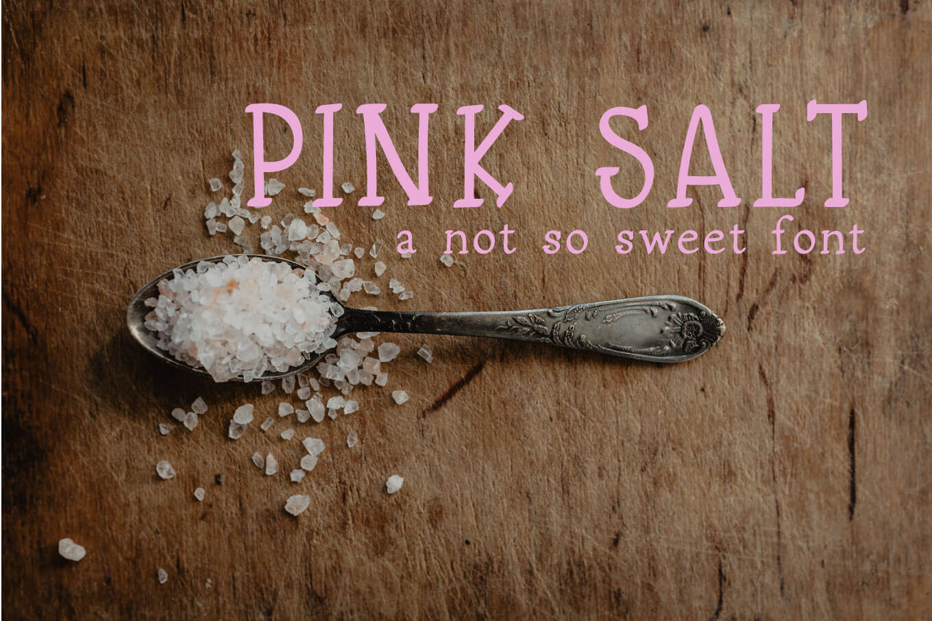 Pink Salt A Not So Sweet Font example image 1