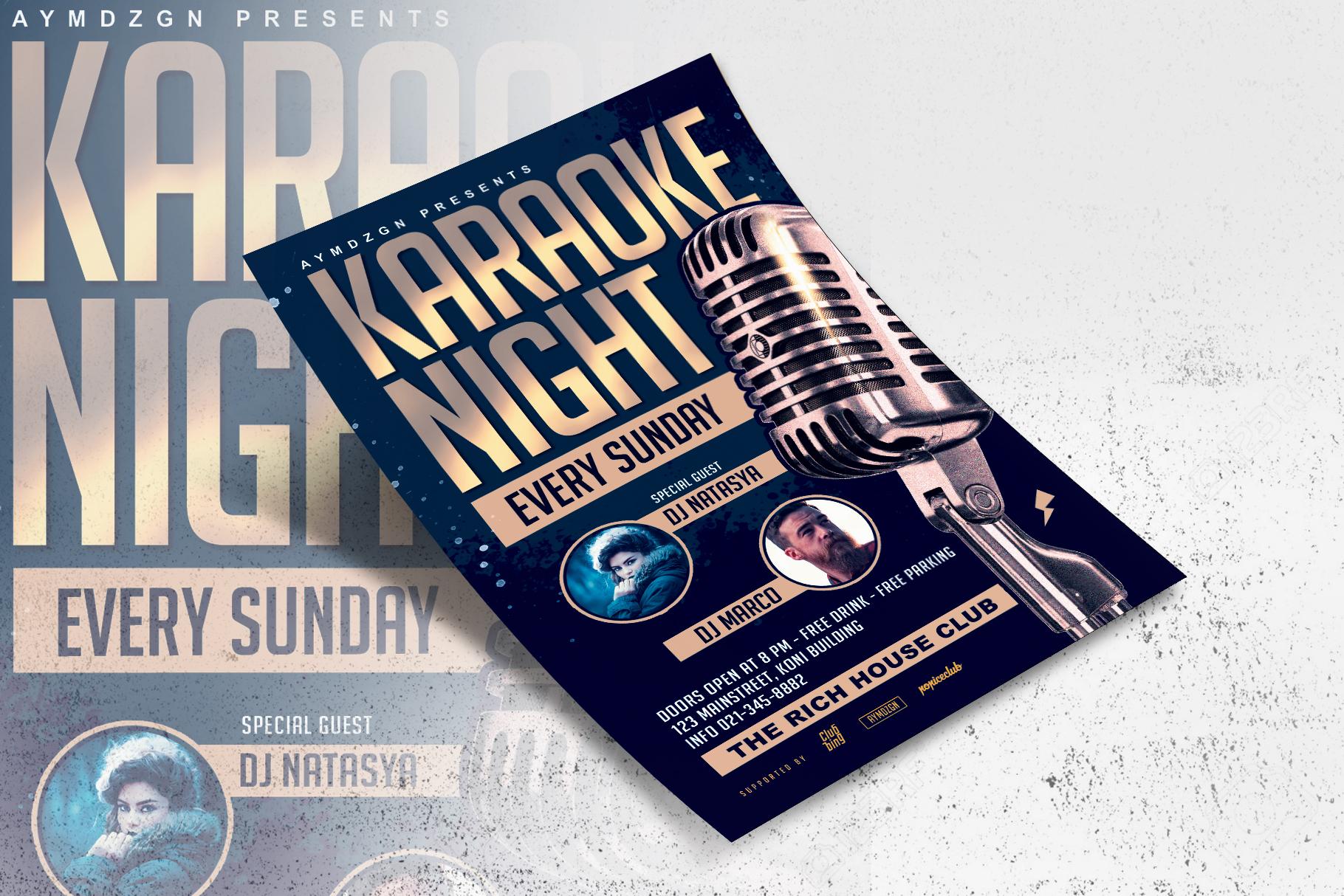 Karaoke Night Flyer example image 3