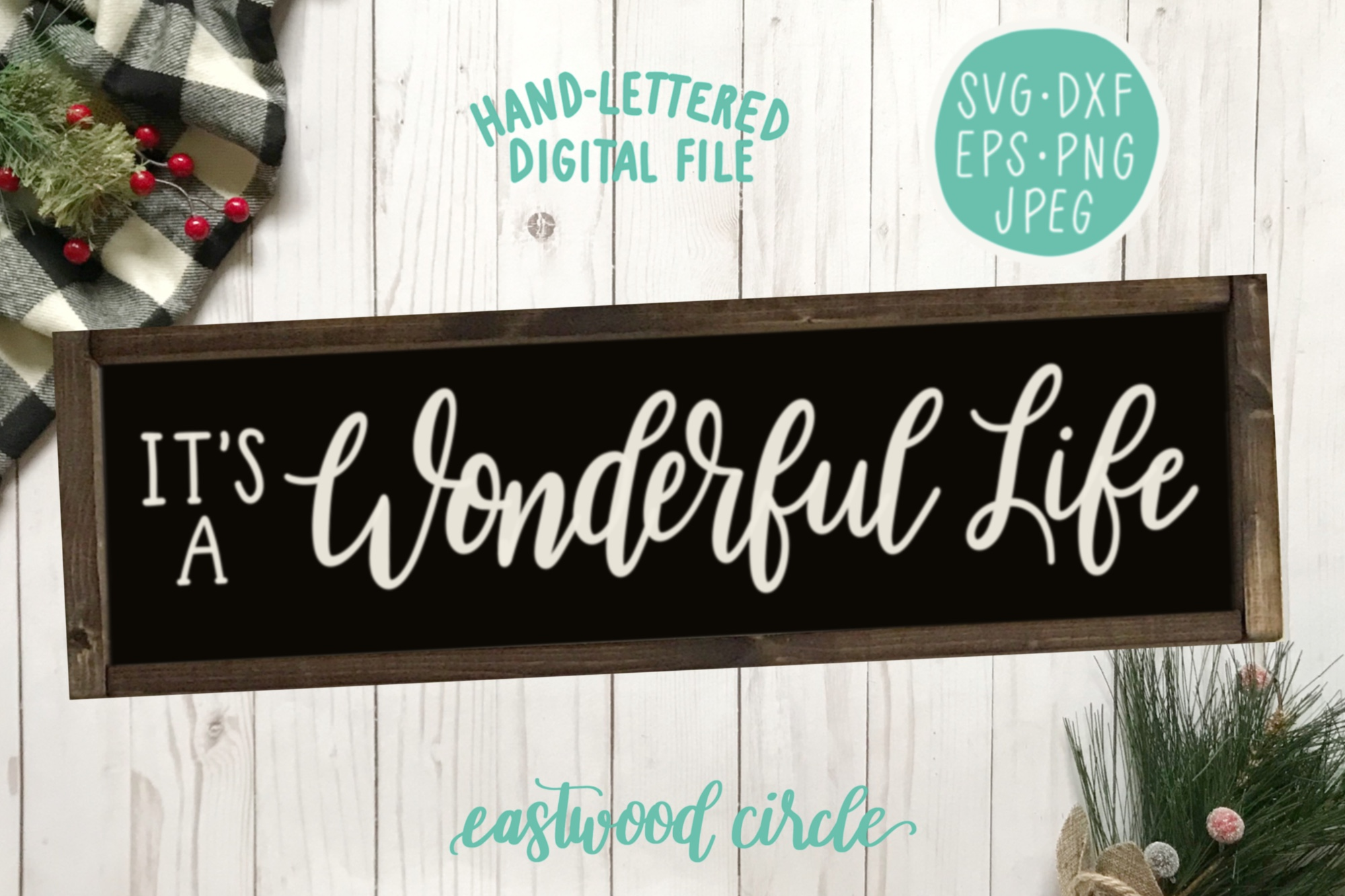 Christmas SVG Bundle - Hand Lettered SVG Files for Signs example image 6