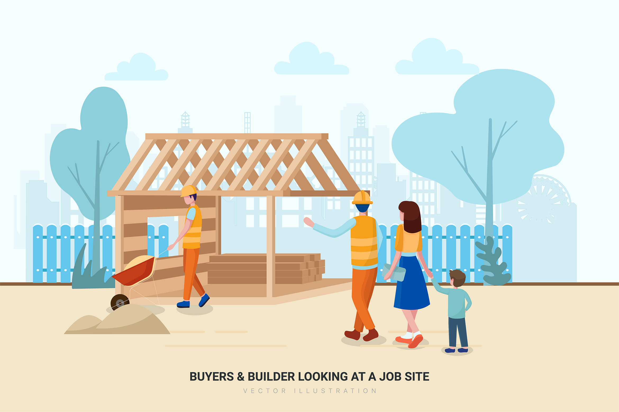 Construction & Real Estate Vector Illustration - Part 30 example image 8