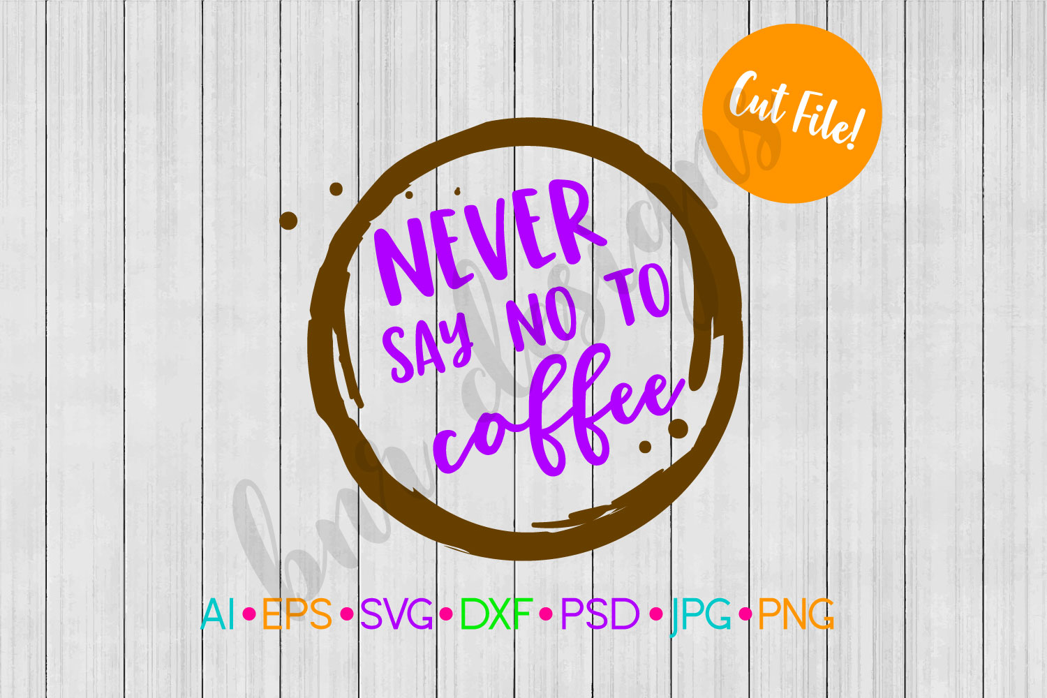 Never Say no to Coffee SVG, Coffee SVG example image 1
