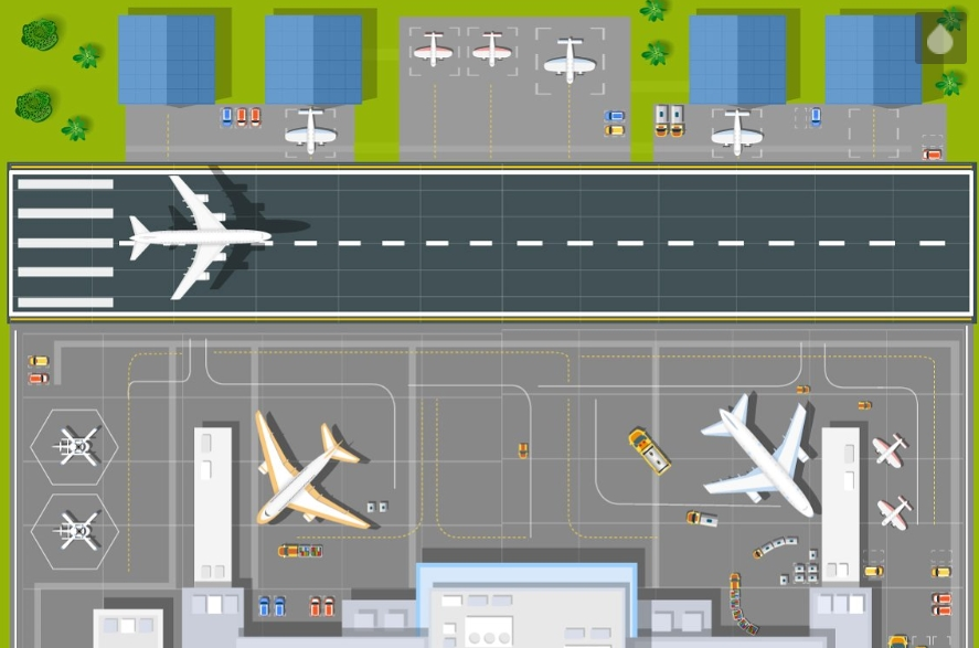 A large industrial city airport. example image 2